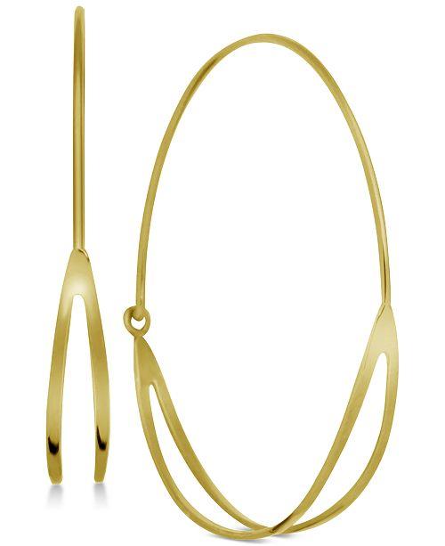 Essentials Double Row Wire Medium Hoop Earrings