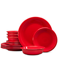 Fiesta Classic 12-Pc. Scarlet Dinnerware Set, Service for 4