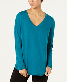 Eileen Fisher Organic Cotton V-Neck Top, Regular & Petite