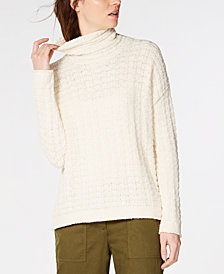Eileen Fisher Organic Cotton Funnel-Neck Sweater