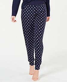 Ultra Soft Satin-Trimmed Jogger Pajama Pants, Created for Macy's