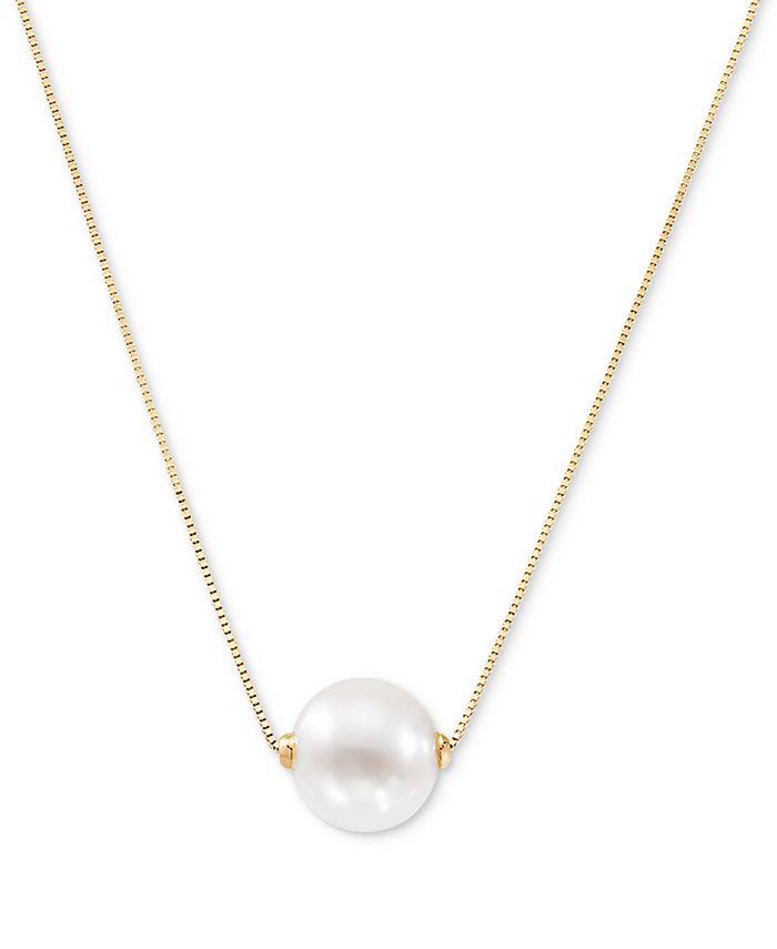 "Honora - Cultured Freshwater Pearl (8-1/2mm) 18"" Pendant Necklace (Also in Pink Cultured Freshwater Pearl)"