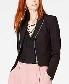 Bar III Zippered Blazer, Created for Macy's