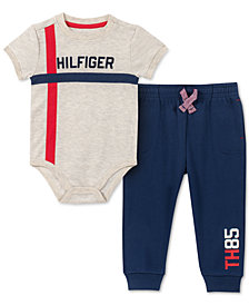 Tommy Hilfiger Baby Boys 2-Pc. Printed Bodysuit & Jogger Pants Set