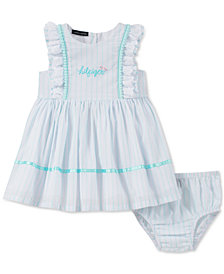 Tommy Hilfiger Baby Girls Ruffle-Trim Striped Dress