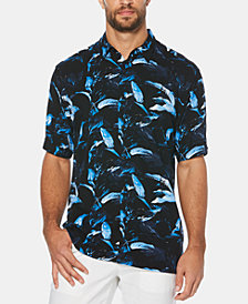 Cubavera Men's Big & Tall Leaf Print Short-Sleeve Shirt