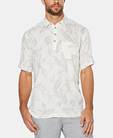 Cubavera Men's Four-Button Tropical Short-Sleeve Shirt