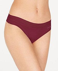 Calvin Klein Striped-Waist Thong QD3670