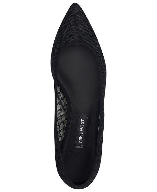 f1c45976a3e2 Nine West Alicea Mesh Flats   Reviews - Flats - Shoes - Macy s