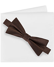Calvin Klein Men's Metallic Bow Tie & Pocket Square Sets