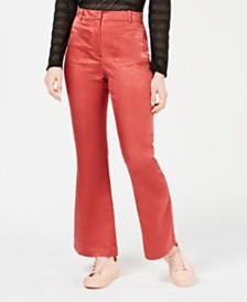 Moon River Satin Patch-Pocket Pants