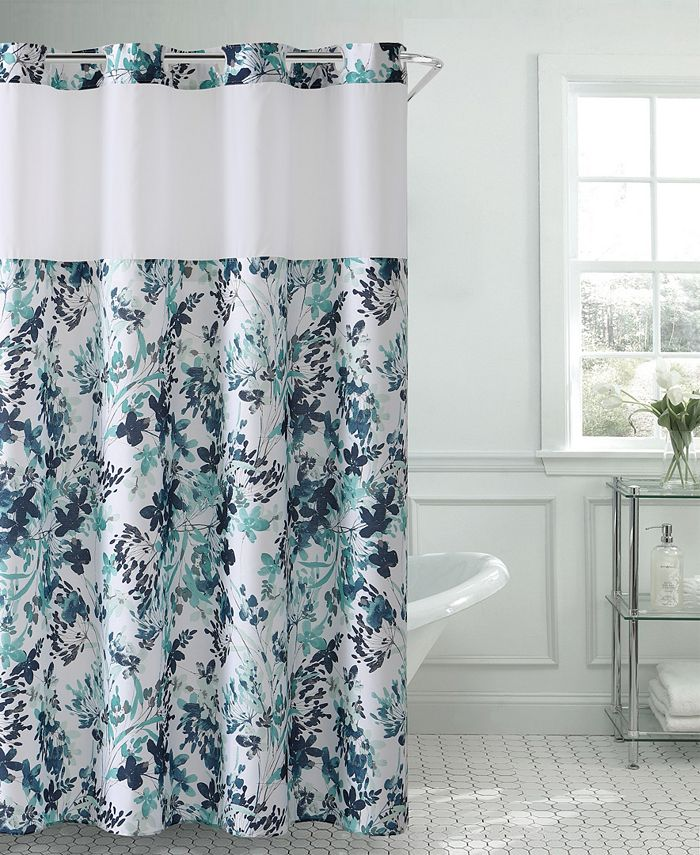 Hookless - Water Color Floral 3-in-1 Shower Curtain