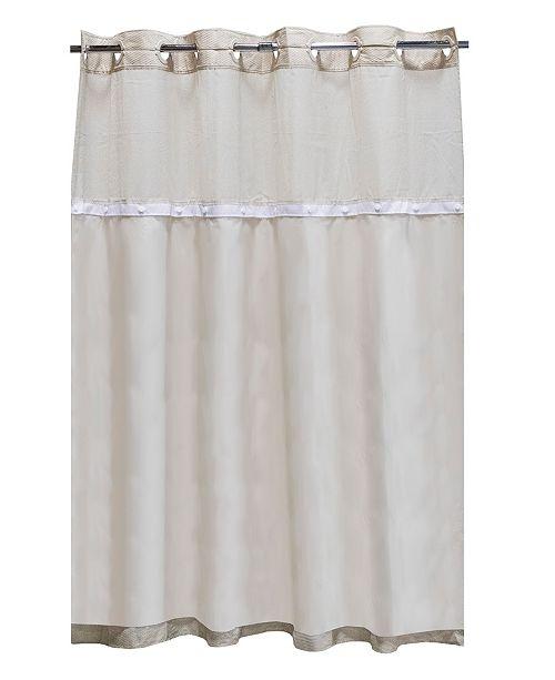Hookless Peva Snap 70 X 54 Shower Curtain Liner