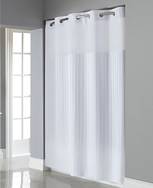 Hookless Victorian Satin Stripe 3-in-1 Shower Curtain