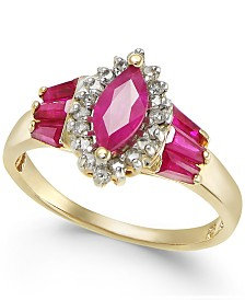 Ruby (1-1/2 ct. t.w.) & Diamond (1/5 ct. t.w.) Ring in 14k Gold