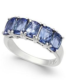 Tanzanite Five Stone Ring (3-1/4 ct. t.w.) in Sterling Silver