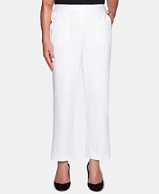 Alfred Dunner Petite Palm Coast Pull-On Pants