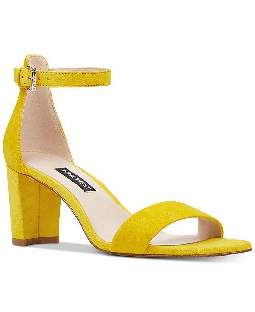abe17028e9 Nine West Pruce Block-Heel Sandals & Reviews - Sandals & Flip Flops ...