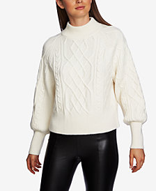 1.STATE Mixed-Cable-Knit Sweater