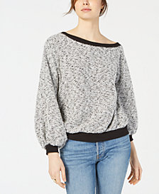 1.STATE Off-The-Shoulder Boucle Top
