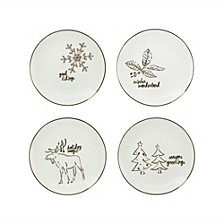 Holidays Gold Plates, Set of 4