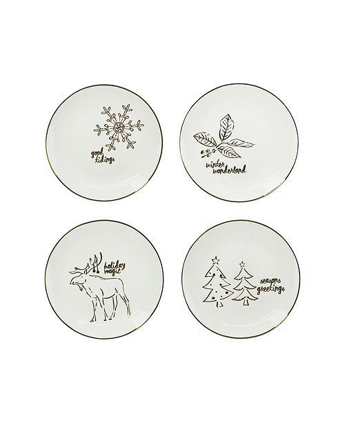 American Atelier CLOSEOUT! Holidays Gold Plates, Set of 4