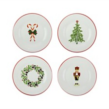 CLOSEOUT! American Atelier Holiday Salad Plates, Set of 4