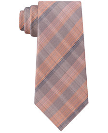 Kenneth Cole Reaction Men's Slim Fine-Line Plaid Tie