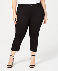 I.N.C. Plus Size INCFinity Cropped Skinny Jeans, Created for Macy's