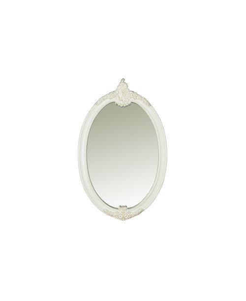 Furniture of America Rollison Traditional Hand-Brushed Oval Mirror