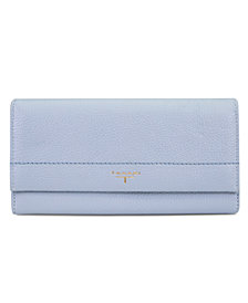 T Tahari Flap Gusset Leather Clutch