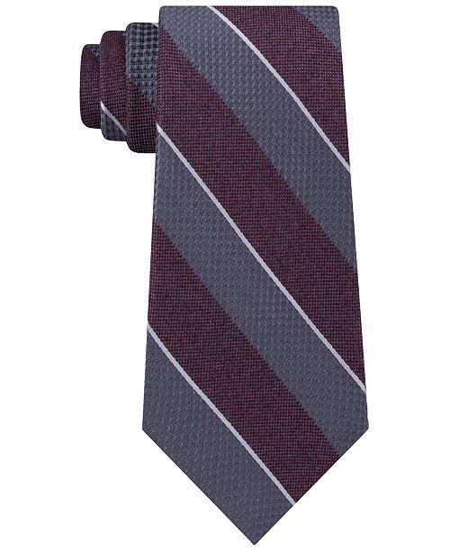 476eac7ef2d9 Michael Kors Men's Mixed Media Stripe Tie & Reviews - Ties & Pocket ...