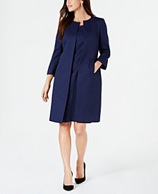 Le Suit Jacquard Topper Jacket & Sheath Dress