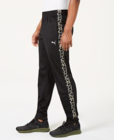 Puma Men's Cheetah-Stripe Track Pants