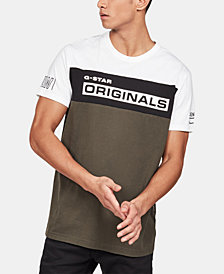 G-Star RAW Men's Originals Colorblocked Logo Graphic T-Shirt, Created for Macy's