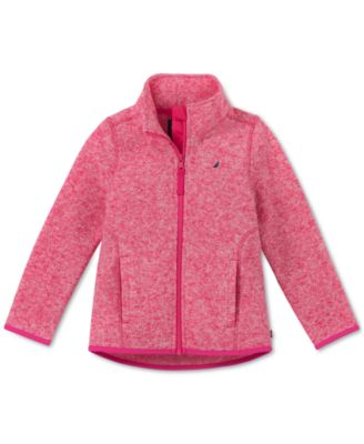 Image of Nautica Little Girls Heathered Polar Fleece Jacket