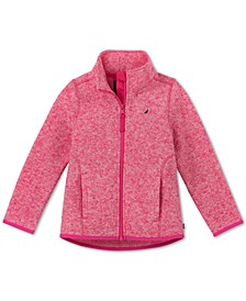 Little Girls Heathered Polar Fleece Jacket