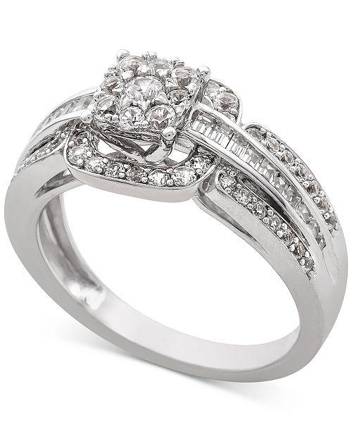 Macy's Diamond Engagement Ring (3/4 ct. t.w.) in 14k White Gold