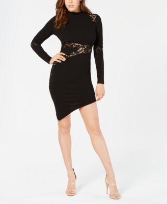 Guess Tahara Lace Inset Bodycon Dress Dresses Juniors Macys