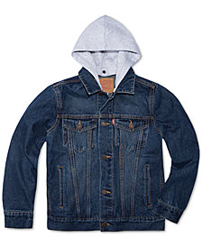 Levi's® Big Boys Hooded Trucker Jacket