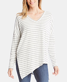 Karen Kane Striped Asymmetrical Top