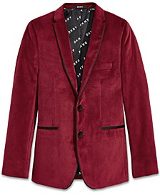 Big Boys Red Velvet Suit Jacket