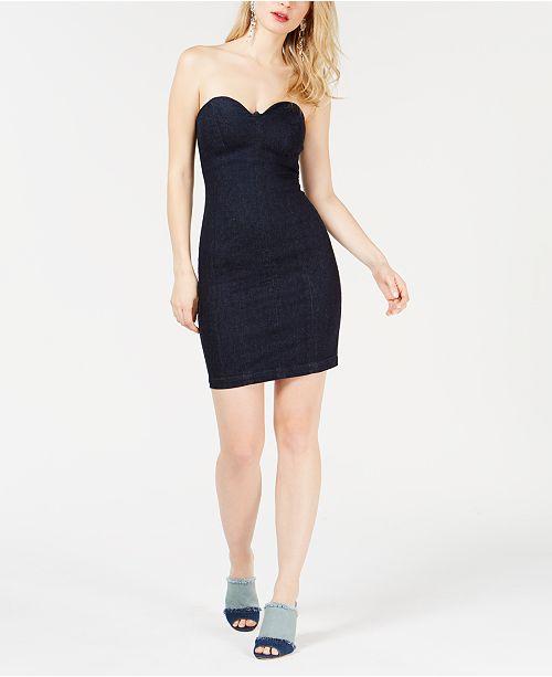 GUESS Deco Denim Bodycon Dress
