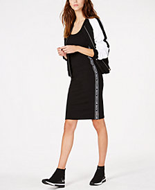 MICHAEL Michael Kors MKGO Logo-Stripe Dress