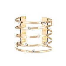 Multi Row Metal Cuff Bracelet