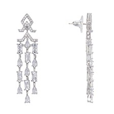 Mini Cubic Zirconia  Chandelier Earrings