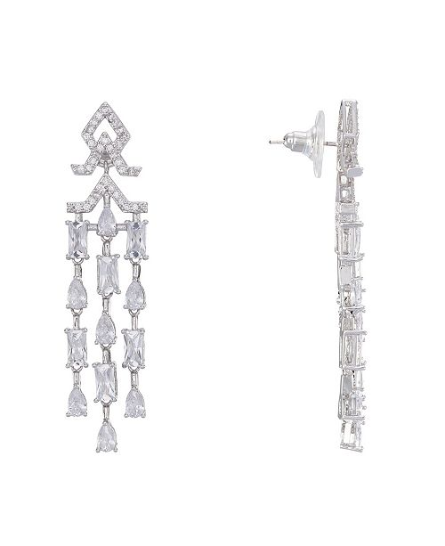 Nina Mini Cubic Zirconia  Chandelier Earrings