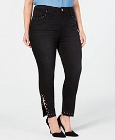 Plus Size Studded Signature Skinny Jeans