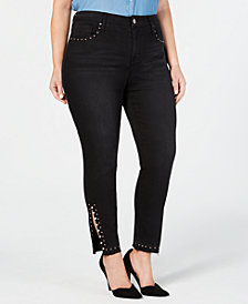 Seven7 Jeans Plus Size Studded Signature Skinny Jeans
