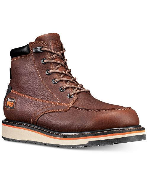 "Timberland Men's PRO Gridworks 6"" Moc-Toe Waterproof Boots"